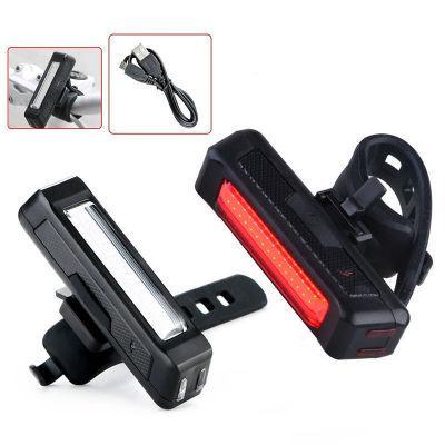 Impermeabile cometa USB ricaricabile bicicletta fari ad alta luminosità rosso LED 100 Lumen anteriore / posteriore bicicletta luce pacchetto di sicurezza all'ingrosso