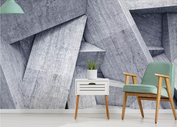Custom Photo Wall Murals 3d Geometric Pattern Brick Wallpaper Wall Papers Papel Mural Madera Canvas Textured Wallpapers Contemporary Wallpaper Cool
