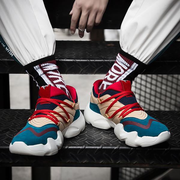 Moda ayakkabı erkekler Eğitim Sneakers Erkek Düz Platformu Sneakers Erkek Spor Ayakkabı Nefes Kıtıklanması Ayakkabı Homme Chaussure