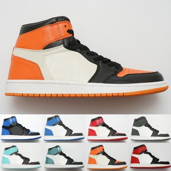 News Classic Court Purple Pine Green Mid OG 1 top 3 men women basketball shoes 1s Banned Bred Chicago Royal Blue sports sneakers