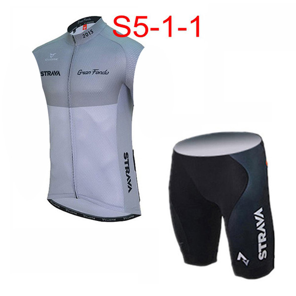 STRAVA ekibi Bisiklet Kolsuz forması Yelek şort setleri Ropa ciclismo yol bisikleti yarış giyim bisiklet giyim erkek Yaz giysileri Q61114