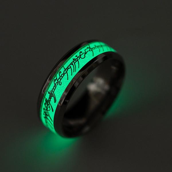 Creativo anello uomo luminoso teschio anelli per uomo oro argento acciaio inossidabile donna anelli bagliore nel buio Anelli gioielli maschili K3004