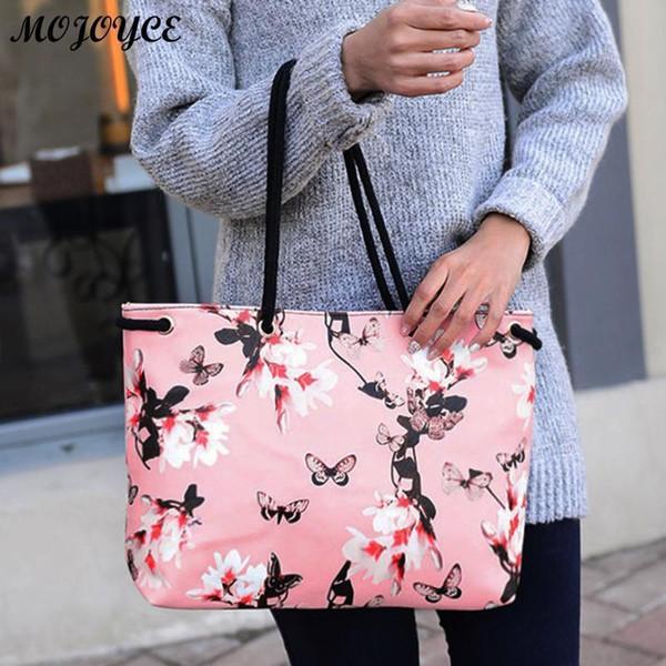Floral Printing Shoulder Beach Bags Handbags Casual Female Tote Hobos Shopping Bag Bolsa Feminina Lady Large Capacity Tote Nice