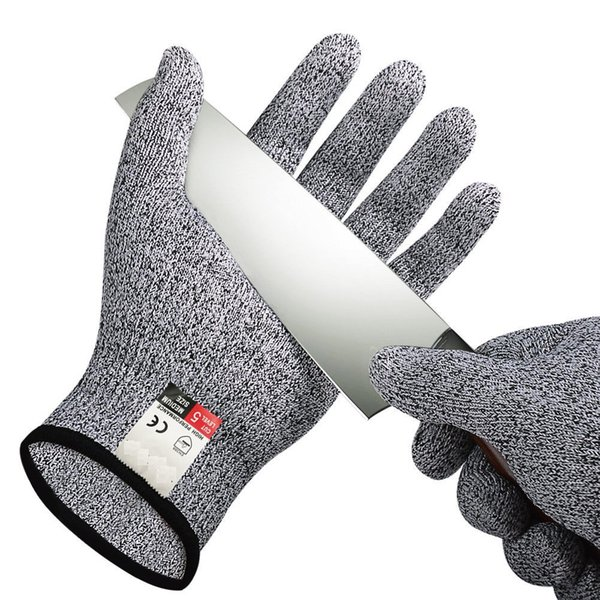 Cut Resistant Gloves for kids adults Food Grade Level 5 Protection Safety Cutting Gloves for Kitchen slicing Meat Cutting Oyster Shucking