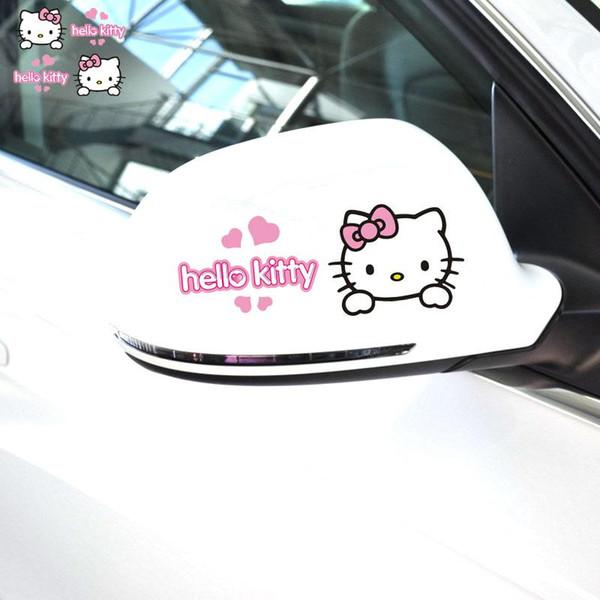 Autocollant de voiture et décalcomanies voiture mignonne rétroviseur decal beau style accessoires de voiture decal vinyle