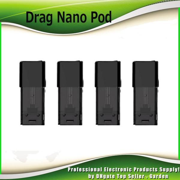 Cartucho original VOOPOO Drag Nano Pod con sistema de llenado lateral superior con bobina de 1.0ml 1.8ohm para el kit Drag Nano Pod 100% auténtico