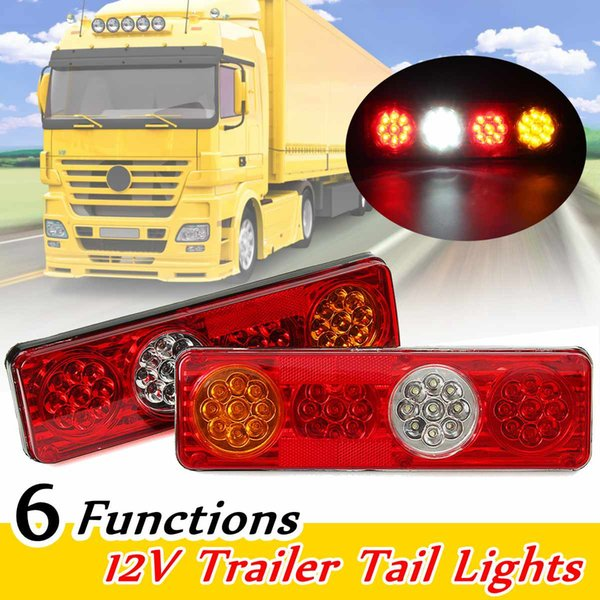 2pc 12V 36 LED Car Rear Tail Lights Lamp 6 Functions Trailer Caravan Truck Lorry
