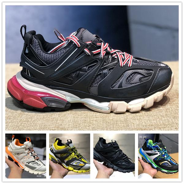 2019 versão 3.0 tess paris track homens gomma maille preto para as mulheres tripla s sneaker sneaker calçados casuais quente autêntico designer de sapatos