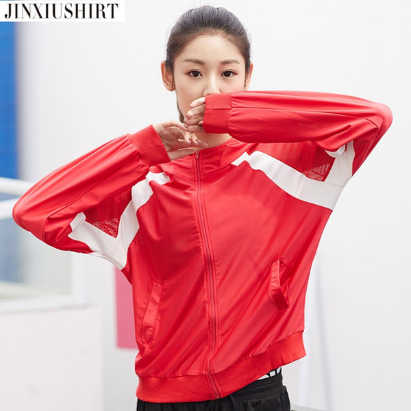 JINXIUSHIRT Blazer Women Autumn Workout Spring Jacket Women Running Jacket Lady Fitness Training Top Gym Fitness Clothing Wear