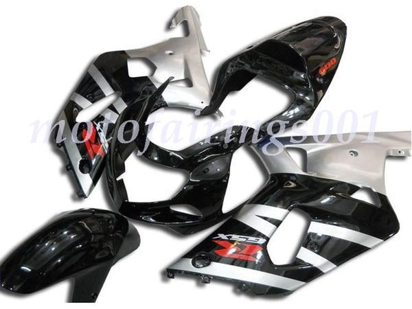 Nouveau style ABS injection moule pleine carénages Fit Kit pour Suzuki GSX-R600 R750 600 750 k1 2001 2002 2003 repsol Argent noir et logo rouge