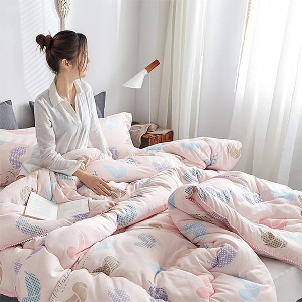 Mocha velvet winter keep warm quilt home bedding thickened core cotton quilt high quality comforter