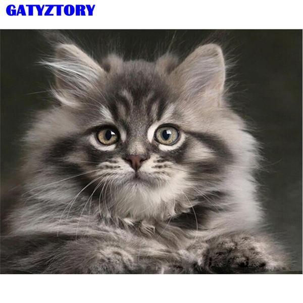 Satin Al Gatyztory Cerceve Kedi Hayvanlar Sayisina Gore Diy Boyama