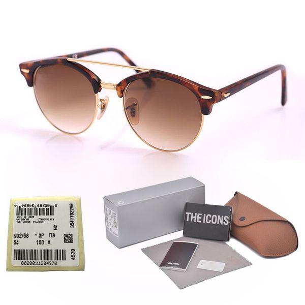 Brand design Round Sunglasses Women Men Glasses Points Retro rivet Half-metal UV glass lens club Colorful Sun Glasses with cases and label
