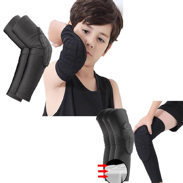 best selling Kids Clothing Honeycomb Sock Sport Safety Basketball Sports Kneepad Padded Knee Brace Compression Armpad Sleeve Protector Knee Pads XZT082
