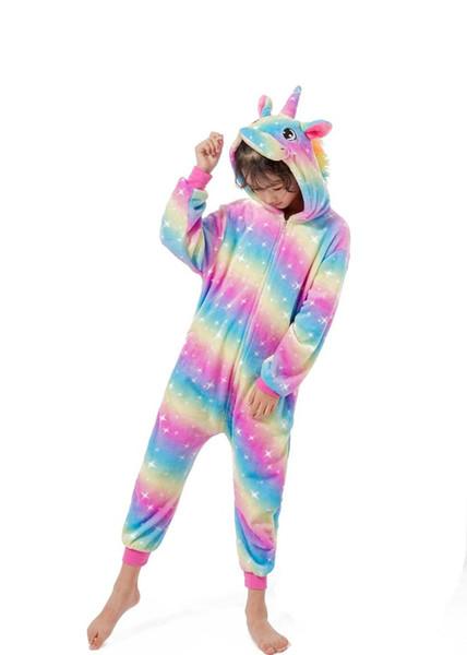 Ids Lazutom Macio Unicórnio Onesie Animal Pijama Halloween Traje Cosplay Sleepwear Presente para Meninas e Meninos