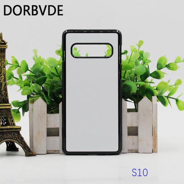 Custodia rigida di plastica di sublimazione 2D copertura posteriore fai da te per Samsung S10 S10 Plus Fundas con inserti in alluminio coque 100 pz spedizione gratuita