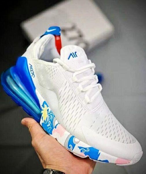 New de ign max 270 27c nezha men running hoe trainer male port max athletic 27c cor hiking jogging walking air outdoor neaker, White;red