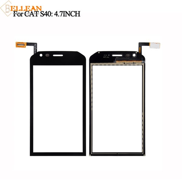 1PCS Catteny For Caterpillar S40 Touch Screen Front Glass Lens 4.5'' For CAT S40 Touch Panel Assembly Free Russian+ Tools