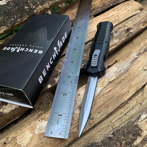 Sıcak Benchmade Mini Infidel Çift eylem Otomatik bıçaklar 3350 D2 Çelik Mızrak Noktası EDC Cep Taktik Survival knife ile naylon kılıf
