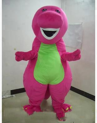 2018 Discount factory sale hot Profession Barney Dinosaur Mascot Costumes Halloween Cartoon Adult Size Fancy Dress