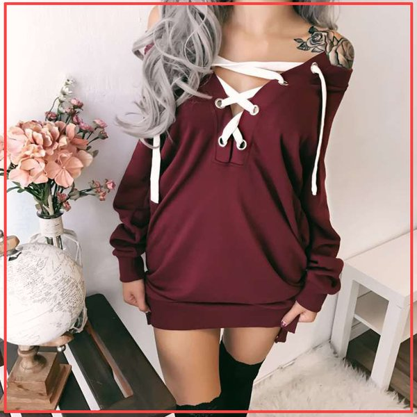 Designer Women Long SweaterLong Sleeve Fashion Lace Up Sexy Pullover Autumn Solid Color Luxury Clothes for Womens S-XXL