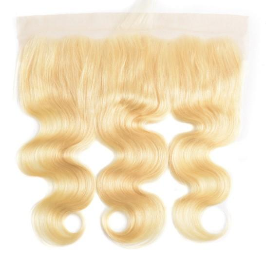 13x4 Lace Frontal Closure 10A Blonde Hair #613 Body Wave Brazilian Virgin Human Hair Ear to Ear Lace Frontal for Woman Free Shipping