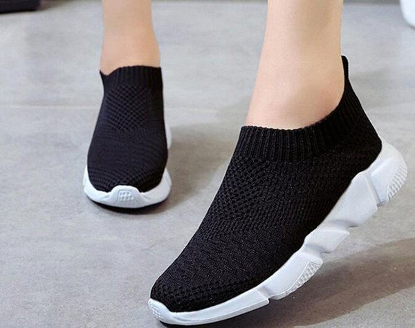 top popular YOUYEDIAN Shoes Women Outdoor Mesh Casual Slip On Comfortable Soles Shoes scarpe donna estive traspiranti schoenen mannen #a35 2020