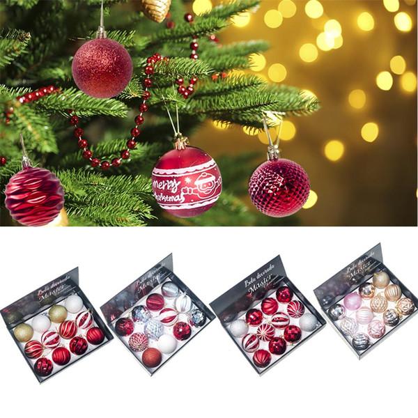 12PCS Grandi ornamenti natalizi appesi per l'albero di Natale - Decorazioni per alberi di Natale infrangibili 8CM