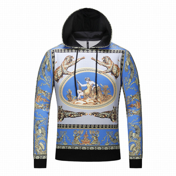 2019 brand new autumn and winter new products Crown Court wind 3D character prints Men and women hooded sweater