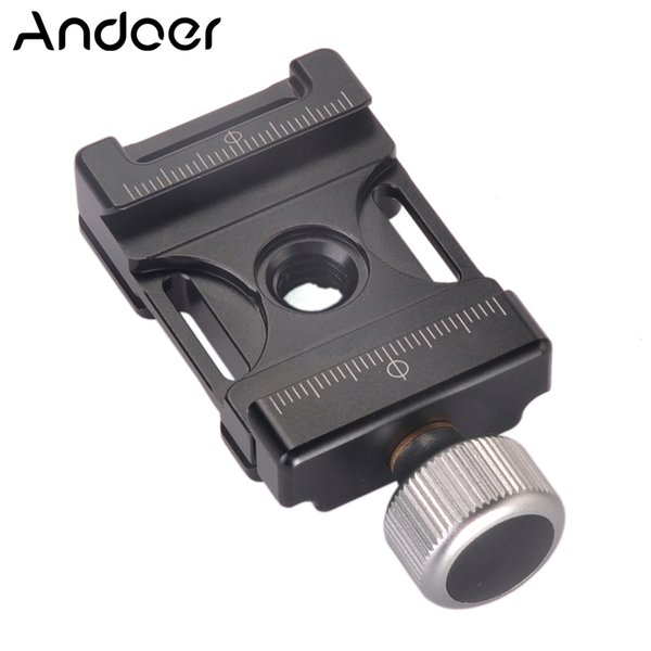 quick release clamp plate Andoer 38mm Aluminum Screw Knob Mini Quick Release Clamp Compatible with Arca Swiss for 38mm QR Plate