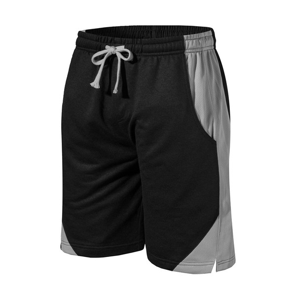 Men Middle Waist Slight Elastic Running Shorts Patchwork Loose Fitness Basketball Summer Shorts Exercise Workout Comfortable