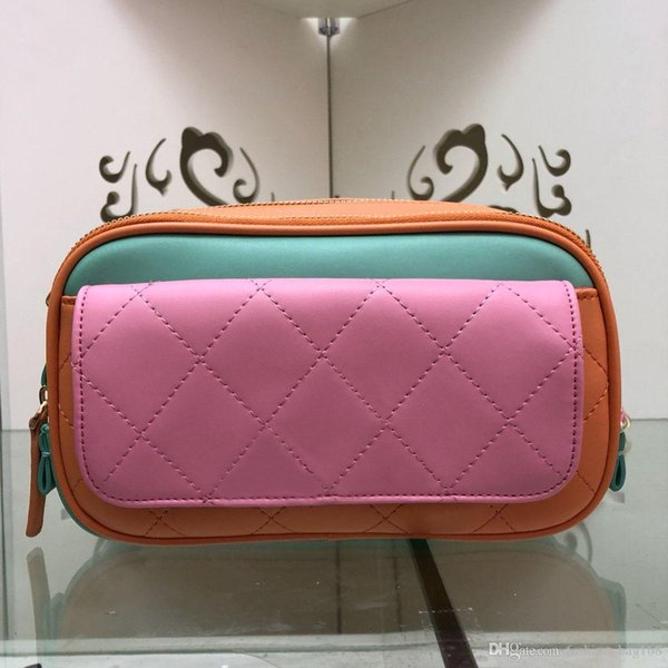 Il nuovo modo del progettista borse donne borse tracolla di colore del pacchetto della vita Borse a tracolla splicing sacchetto della cassa di alta qualità Vera Pelle