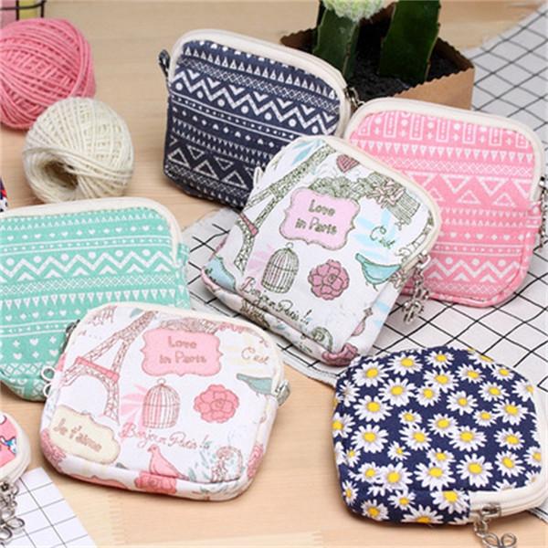 Leinwand Geldbörse Outdoor Stoff Tampon Aufbewahrungstasche Blumenmuster Brieftasche Gute Qualität Für Frauen Multi Style 2 3jmH1