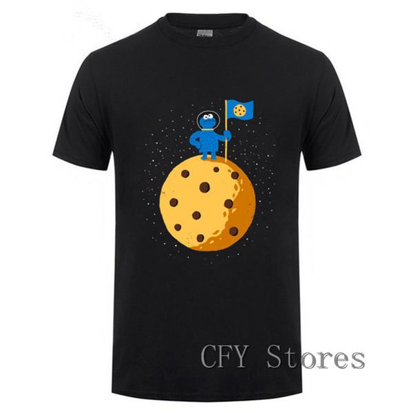 Novedad Cookie space Camiseta Hombre Sesame Street Cookie Camiseta divertida Hombres 2019 Marca Ropa para hombre verano fitness Camiseta