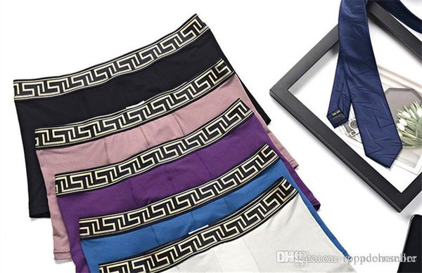 mens new fashion casual designer underwear comfortable breathable and sweat absorbing mens silk boxers underpants