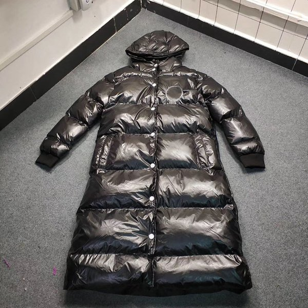2018 New Fashion Sustans Cotton Winter Long Parkas Embroidery Black Designer Overcoat Casual Warm Coat Women Outwear Parka