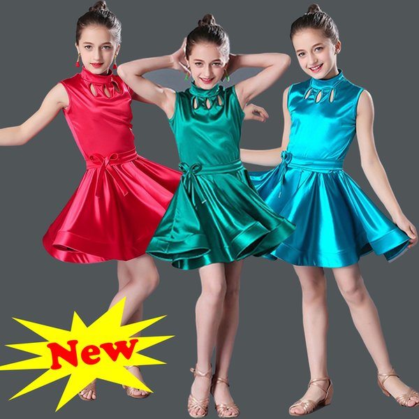 c15830ee33f10 Short Sleeve Girls Ballroom And Latin Dance Dresses For Sale Cha Cha Rumba  Samba Jive Children