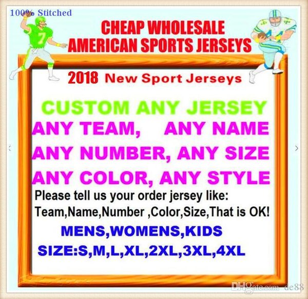 Alle genähten Custom American Football Trikots Tampa Bay Dallas College authentische billige Baseball Basketball Hockey Trikot 4xl 6xl 8xl Hemden