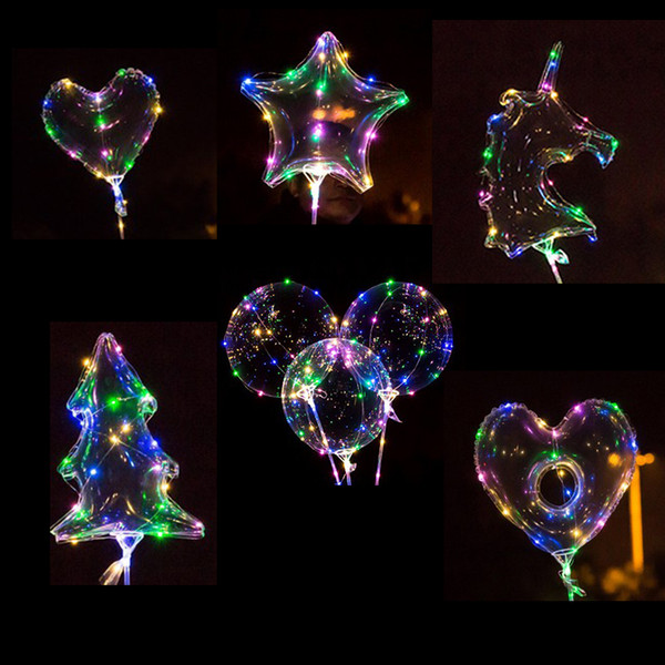 best selling High Quality Colorful LED Bobo Balloon Transparent Glowing Led Helium Ballon Baby Shower Kids Toy Birthday Party Wedding Bridal Shower Decor