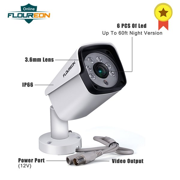 FLOUREON 4 Channel 5MP HD AHD Security Camera System Video DVR Recorder No Hard Drive 4 X 5MP Waterproof IP66 Cameras