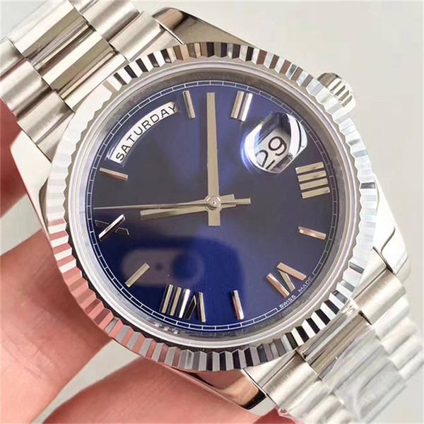 orologi da uomo di lusso con data 41mm di alta qualità meccanico automatico designer orologio da uomo casual in acciaio inossidabile montre orologi da polso