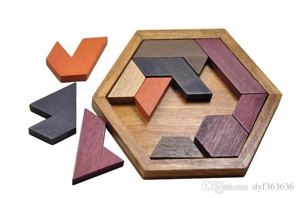 top popular Kids Puzzles Wooden Toys Tangram   Jigsaw Board Wood Geometric Shape P Children Educational Toys 2019