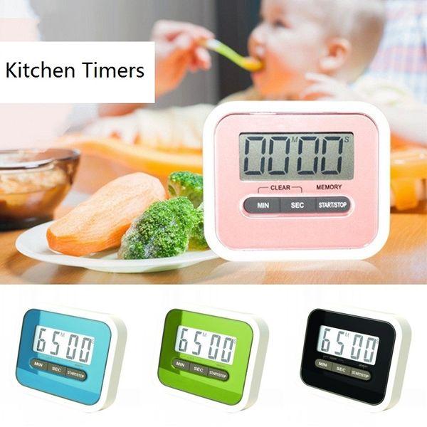 Digital Kitchen LCD Conde-down / up temporizador Praça Cozinhar alarme alto Temporizador Baking Cronômetro Timers Acessórios de cozinha