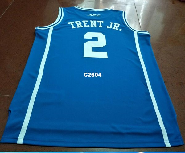 the latest f214a 174bd 2019 Men #2 Duke Blue Devils Gary Trent Jr. RETRO Jersey Blue White Retro  Jersey New Material Or Custom Any Name Or Number Basketball Jersey From ...