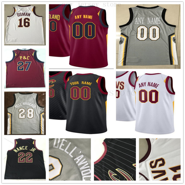 promo code 94337 66905 2019 Custom Printed Cleveland 9 Channing Frye 3 Marquese Chriss 12 David  Nwaba 1 Nik Stauskas 32 Deng Adel Cavaliers Basketball Jersey From ...