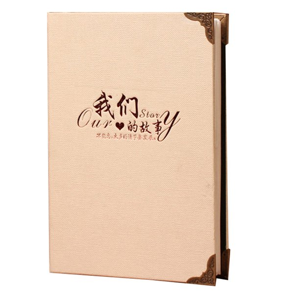 200 Sheets Practical Photo Album Wedding DIY Insert Page Craft Cute Paper Gifts Picture Storage Family Memory Home Graduation