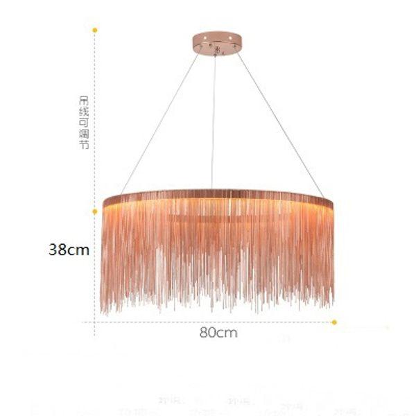 diámetro 80cm oro rosa