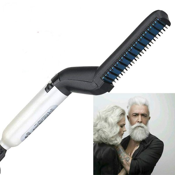 Hair Straightener Electric Hair Comb for Men Beard Straightener Brush Hot Tools Hair Flat Curling Iron