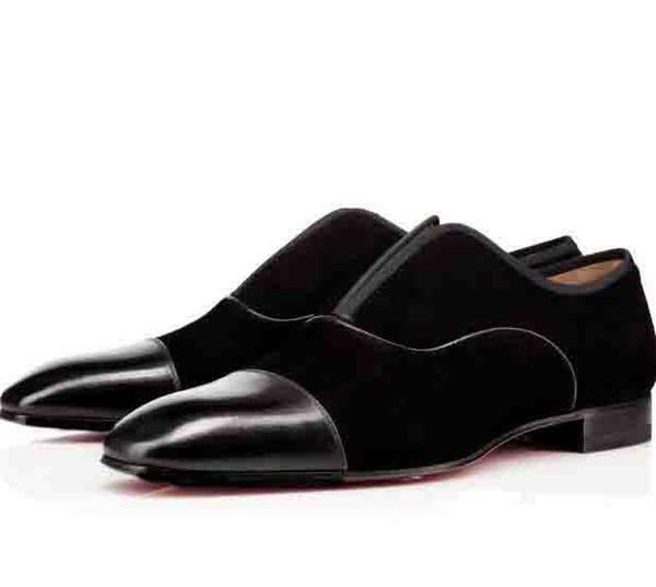 Siyah Erkekler Düğün Ayakkabı Oxfords Erkekler Bussiness Ayakkabı Düz Kırmızı Alt Tasarımcı Alfa Erkek P Strass Düz Düşük Topuklar Erkekler Günlük Ayakkabılar