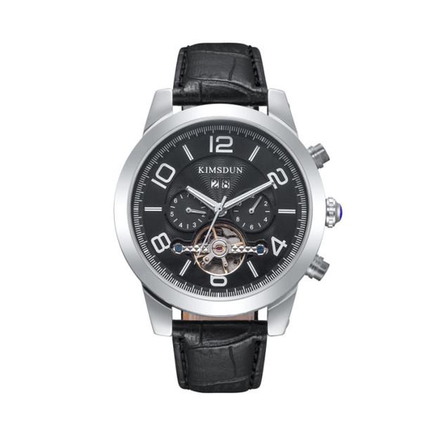Reloj de lujo Todo puntero trabajo Mónaco clásico para hombre Relojes automáticos Marca Hombre Moda Cuero Reloj mecánico Relojes deportivos militares